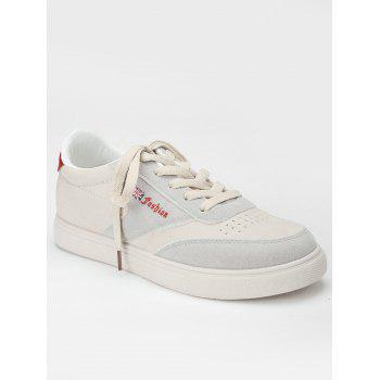 Sewing Casual Sneakers - RED 37