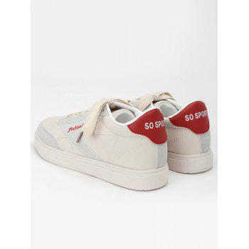 Sewing Casual Sneakers - RED 36