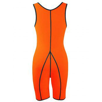 Plus Size Slimming Full Body Sauna Suit - ORANGE 5XL