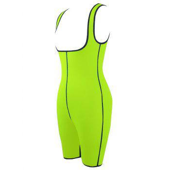 Plus Size Slimming Full Body Sauna Suit - NEON GREEN 2XL