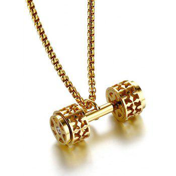 Cool Gear Barbell Pendant Necklace - GOLDEN