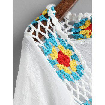 Attachez Boho Couvrir Crochet Trimmed Cover Up - Blanc ONE SIZE