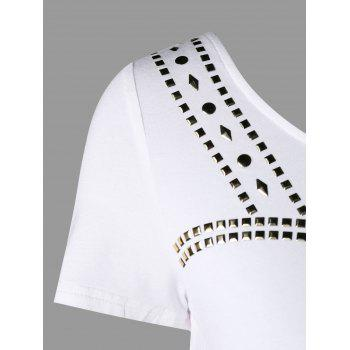 Beaded Crop Top - WHITE L