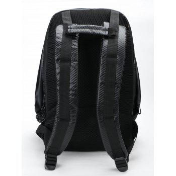 Front Pockets Letter Travel Backpack - BLACK