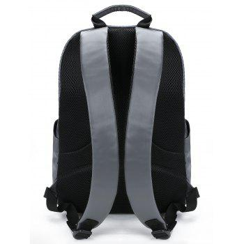 Casual Letter Travel Backpack - DEEP GRAY