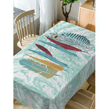 Feathers Marble Pattern Waterproof Table Cloth - COLORMIX W54 INCH * L54 INCH