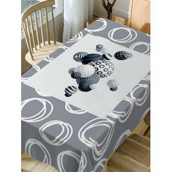 Ball Print Waterproof Table Cloth - GRAY W60 INCH * L84 INCH