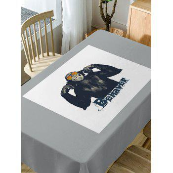 Gorilla Print Waterproof Table Cloth - GRAY W54 INCH * L54 INCH