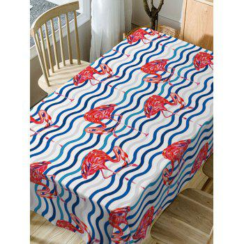 Flamingo Print Waterproof Table Cloth - COLORMIX W60 INCH * L84 INCH