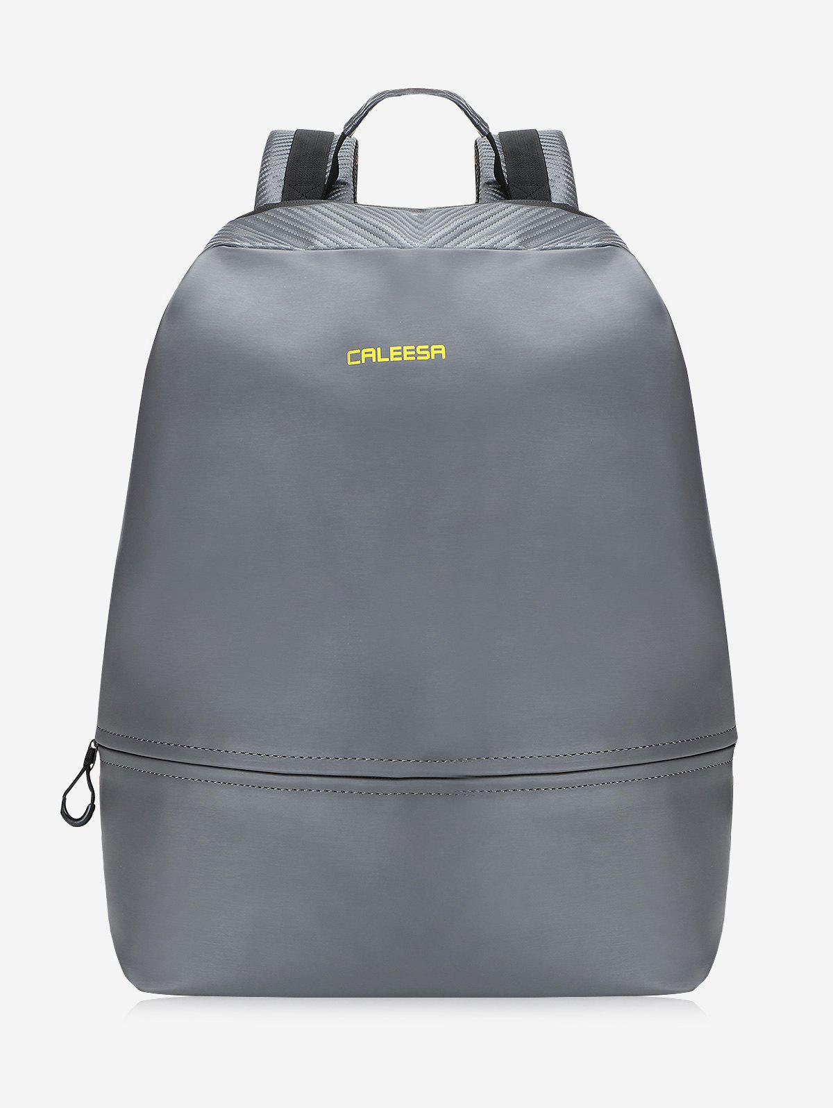 Front Pockets Letter Travel Backpack - DEEP GRAY