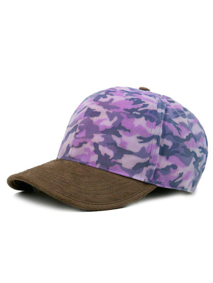 Leopard Pattern Adjustable Graphic Hat - PURPLE