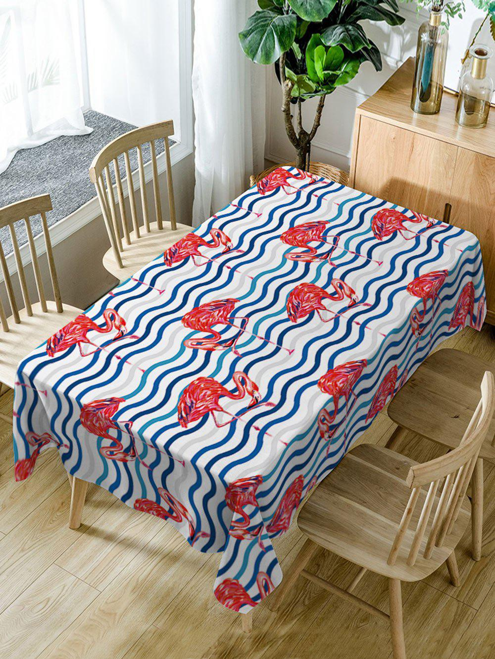 Flamingo Print Waterproof Table Cloth - COLORMIX W54 INCH * L72 INCH