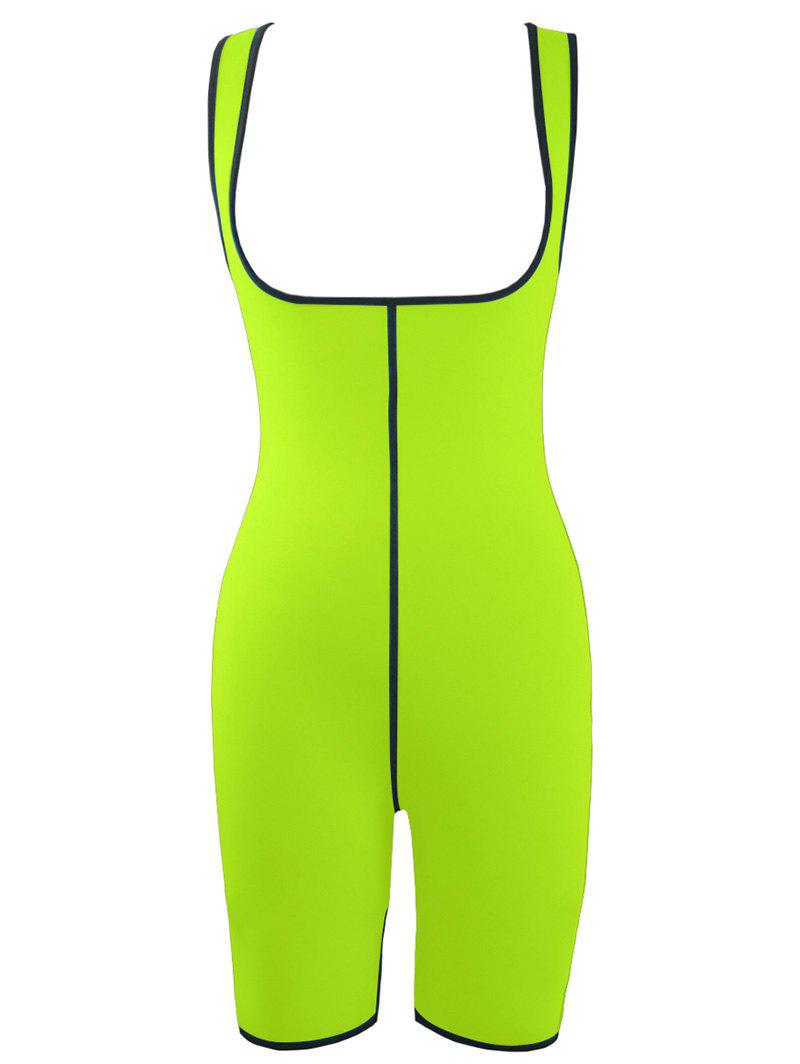 Plus Size Slimming Full Body Sauna Suit - NEON GREEN 4XL