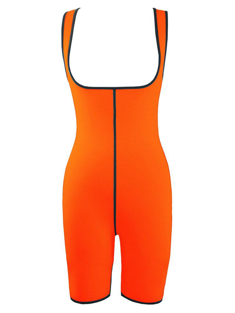 Plus Size Slimming Full Body Sauna Suit - ORANGE 3XL