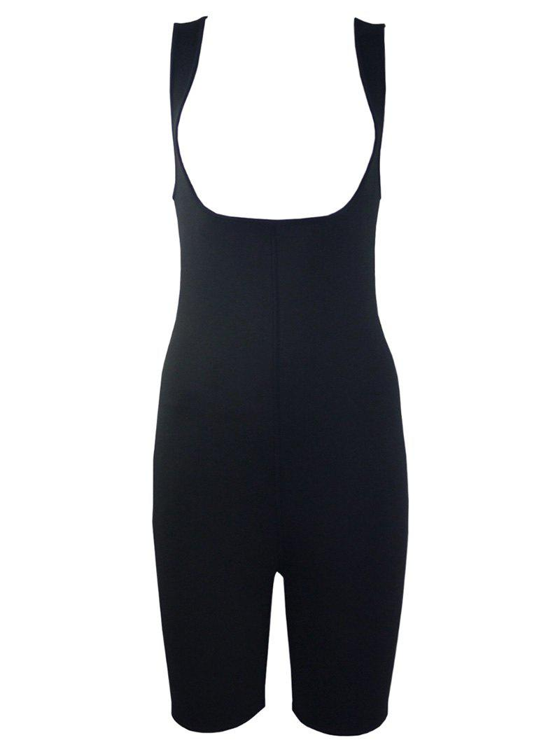 Plus Size Slimming Full Body Sauna Suit - BLACK 3XL