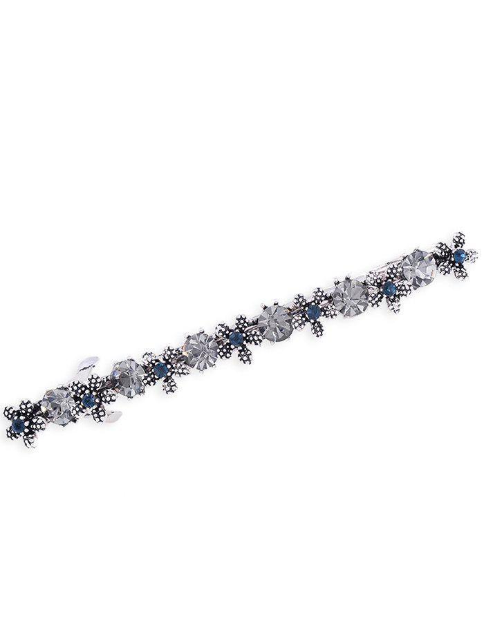 Simple Flower Artificial Gem Embellished Hairpin - GRAY