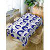 Cartoon Family Head Print Fabric Table Cloth - DEEP BLUE W54 INCH * L72 INCH