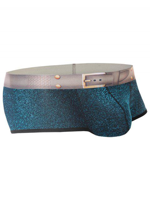 Twinkling Printed U Pouch Design Trunk - SEA BLUE XL