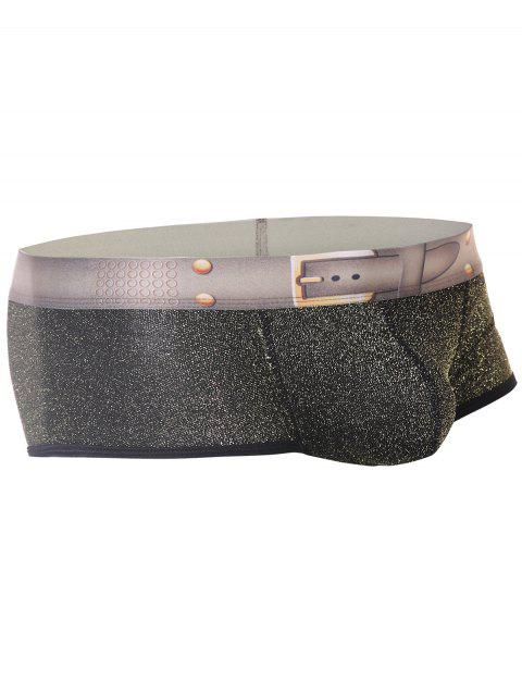 Twinkling Printed U Pouch Design Trunk - YELLOW M