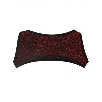 Stretchy Crop Tank Top - WINE RED L