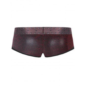 Twinkling Printed U Pouch Design Trunk - WINE RED M