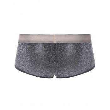 Twinkling Printed U Pouch Design Trunk - SILVER M