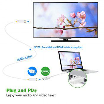 VicTsing Mini Displayport to HDMI Adapter Video HDTV Converter for MacBook Air and More - WHITE