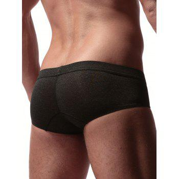Stretchy Convex Design Briefs - BLACK L
