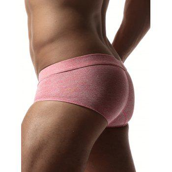 Stretchy Convex Design Briefs - PINK XL