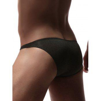 U Pouch Design High Cut Briefs - BLACK XL
