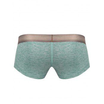 Printed Stretchy Boxer Brief - GREEN L