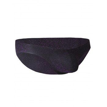 Stretchy Twinkling U Pouch Briefs - PURPLE M