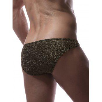 Stretchy Twinkling U Pouch Briefs - YELLOW L