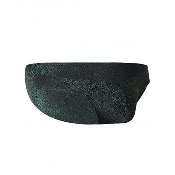 Slip en U Scintillant en Stretch - GREEN XL