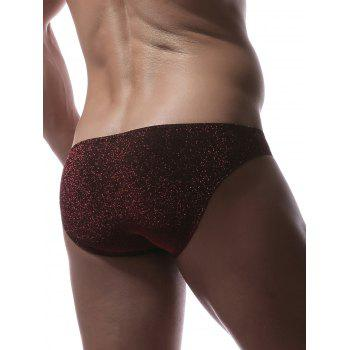 Slip en U Scintillant en Stretch - Rouge vineux L