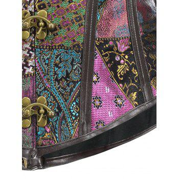 Corset Retro Jacquard Cut Court - multicolorcolore S