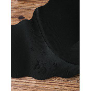 Scalloped Edge Full Cup Seamless Bra - BLACK 75B