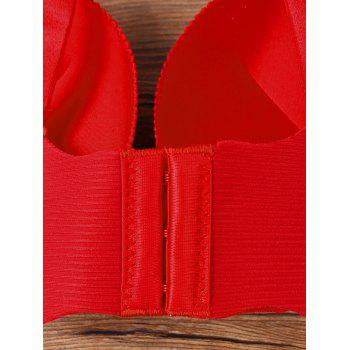 Scalloped Edge Full Cup Seamless Bra - RED 80B