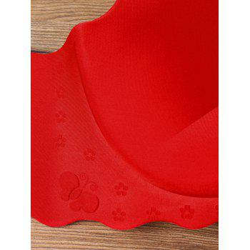 Scalloped Edge Full Cup Seamless Bra - RED 85B