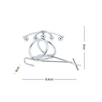 Metal Helicopter Shaped Desk Art Toy - STAINLESS STEEL