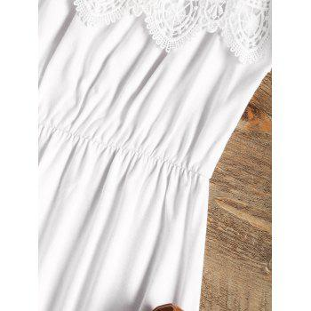 Laced Cover-up Dress - WHITE S