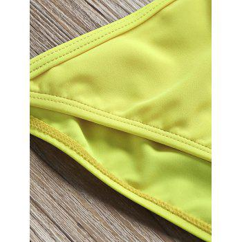 Cami Strap String Low Waist Bikini - YELLOW XL