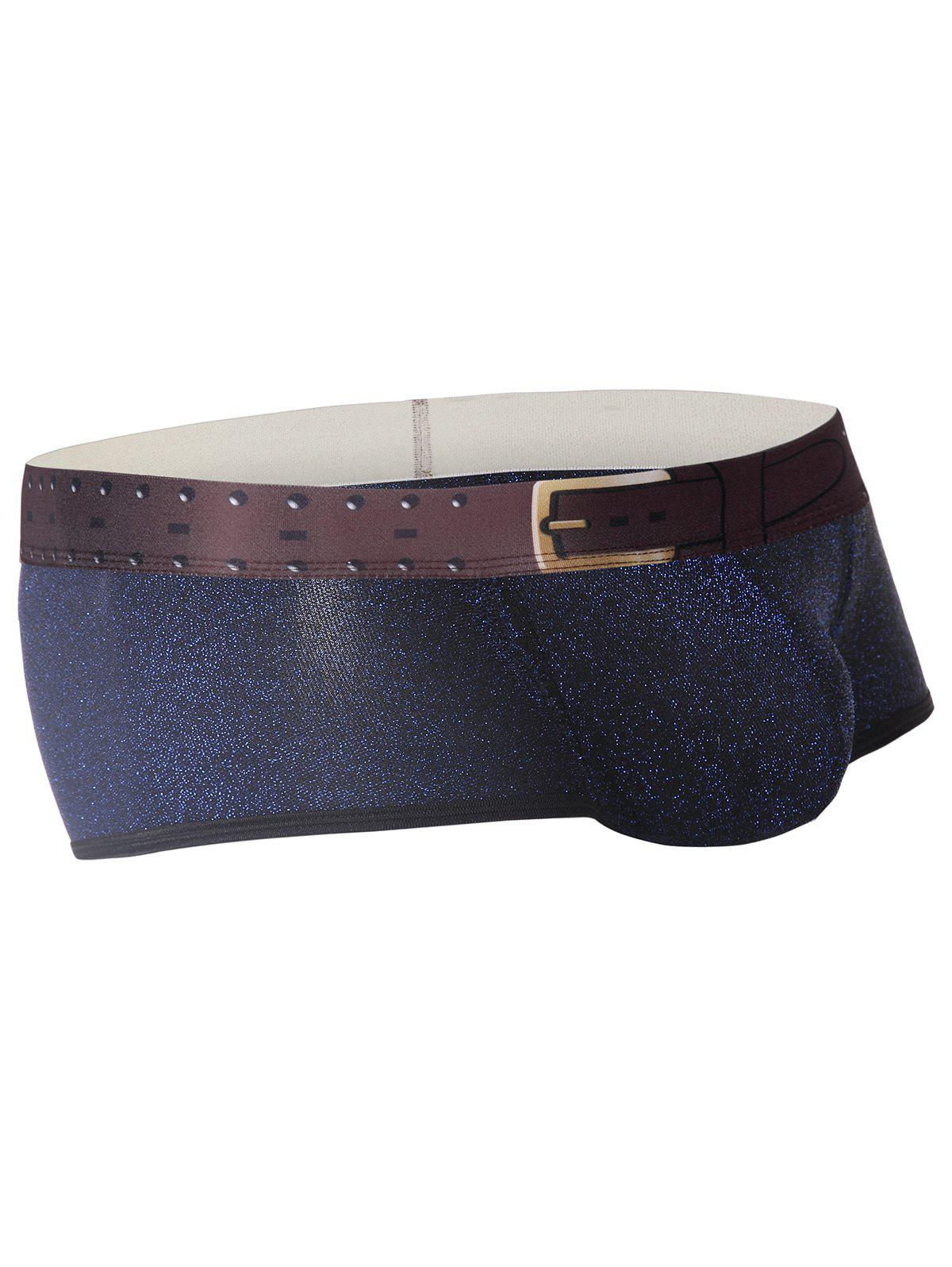 Twinkling Printed U Pouch Design Trunk - ROYAL M