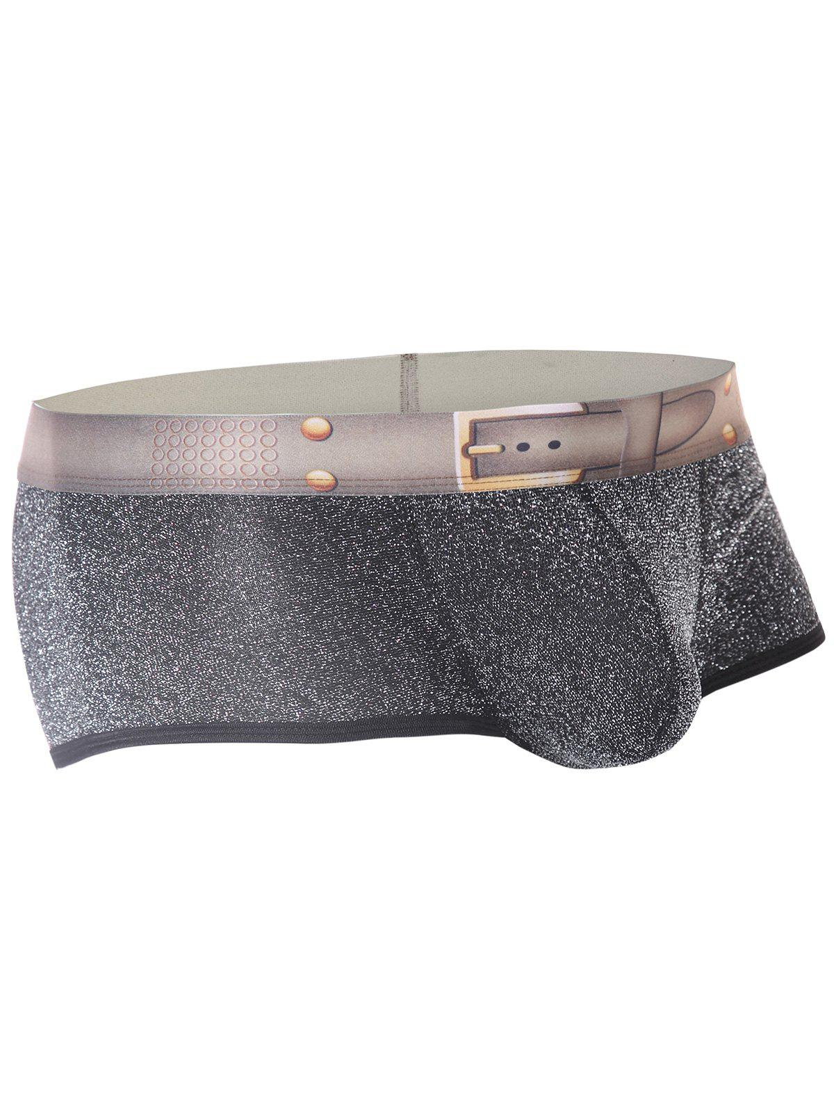 Twinkling Printed U Pouch Design Trunk - SILVER XL