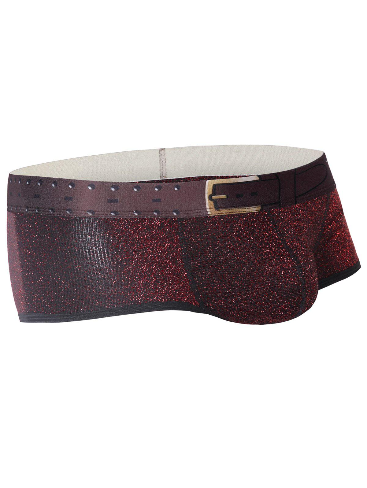 Trunk Design Imprimé Pouch U Tronc - Rouge vineux XL