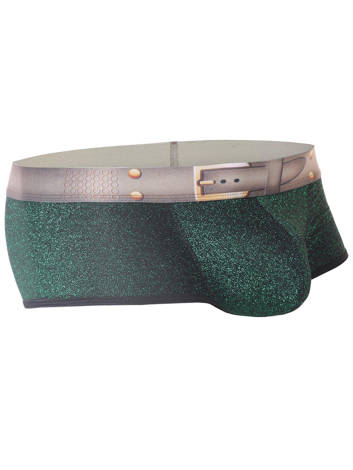 Twinkling Printed U Pouch Design Trunk - GREEN M