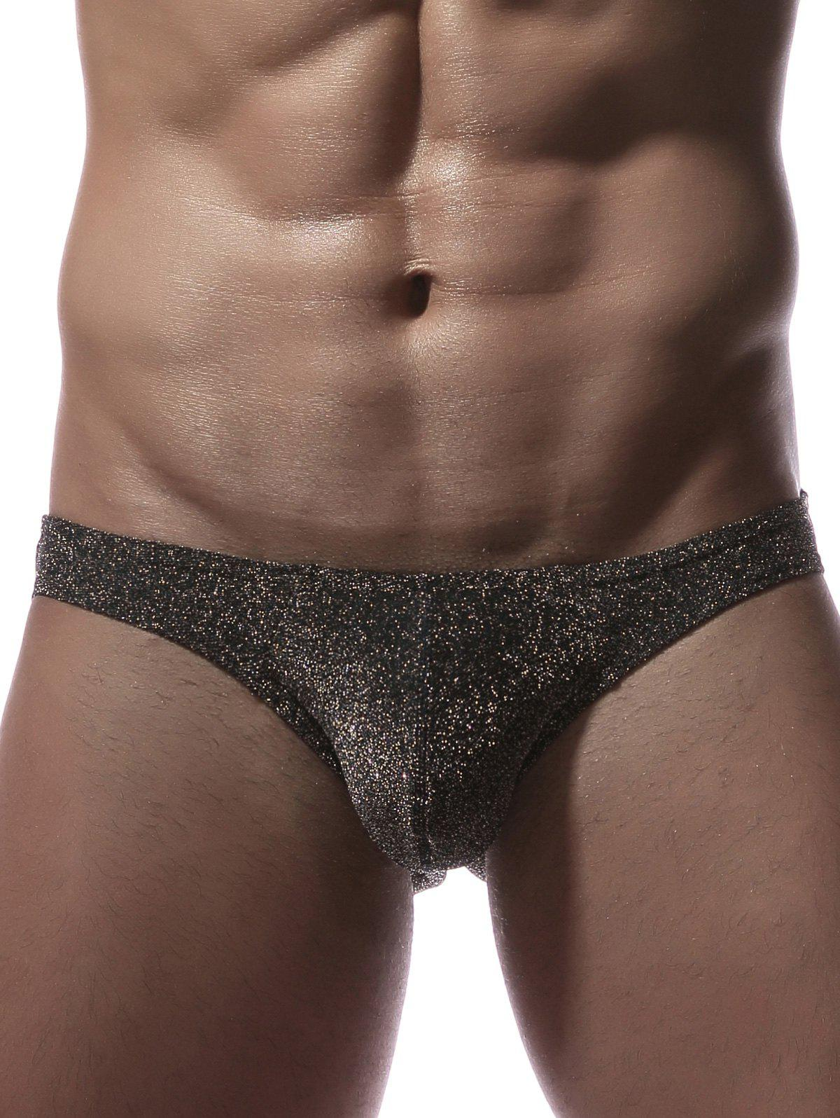 Stretchy Twinkling U Pouch Briefs - SILVER M