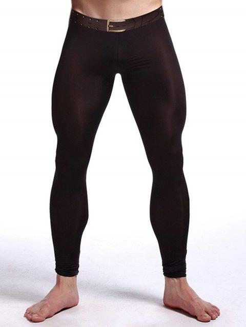 Perspective Printed Gym Pants - BLACK L