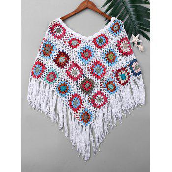 Cache-Maillot Cape en Tricot à Glands - multicolorcolore ONE SIZE