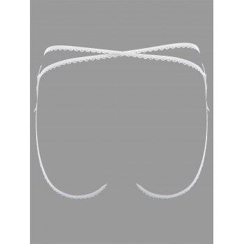 Applique Lingerie G-string - Blanc ONE SIZE